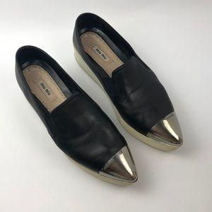 Miu Miu napa leather sneaker. size 10